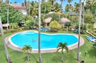 Vista de la piscina, Corte del Mar, Las Terrenas