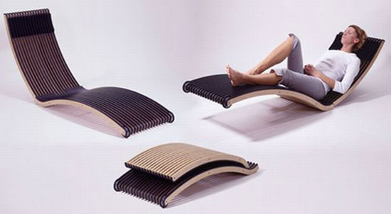Chaise Longue Pliante Design Netcap Creation